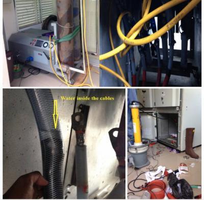 Sấy cáp ngầm trung thế điện áp 3,3KV - 110KV